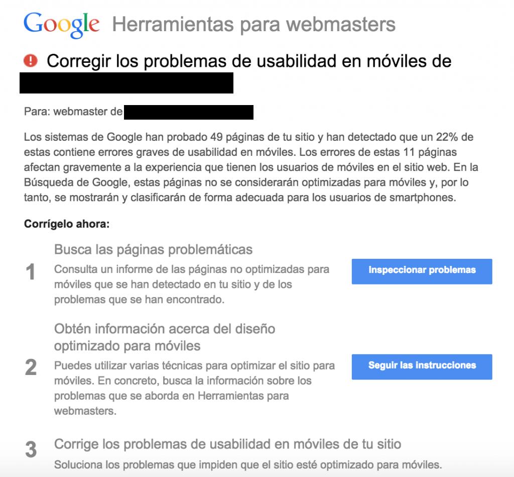 google aviso